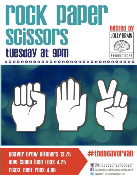 Rock, Paper, Scissors @ Samesun Hostel (Beaver Lounge)